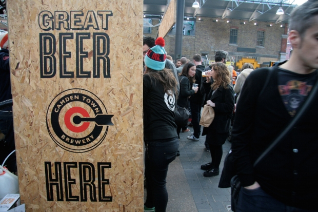 Camden Town Brewery's eye-catching display at the London Brewers' Market Saturday session