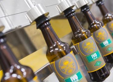 Orbit Beers' Ivo on the bottling line