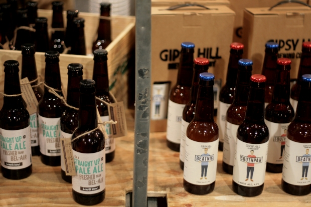Beer from independent London brewers Honest Brew and Gipsy Hill Brewing Co.