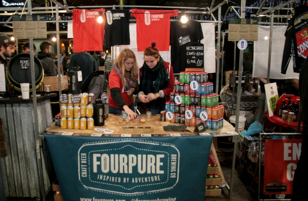 The fantastic Fourpure with their cans during the Friday evening session of LBM