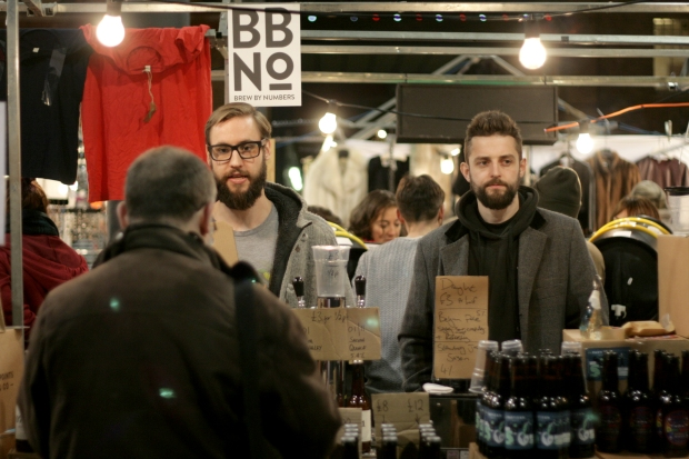 These two Bermondsey brewers shared a stall during the Friday session of London Brewers' Market