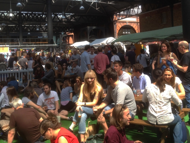 London Brewers' Market beer garden crowd