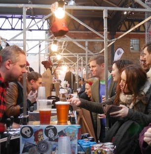 Customers at Beavertown stall square
